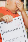 Asian boy with Zero score on examination paper poster