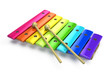 Xylophone isolated on white