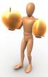 Apfel und Ei Gold Figur