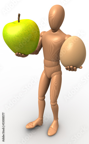 Apfel und Ei Figur