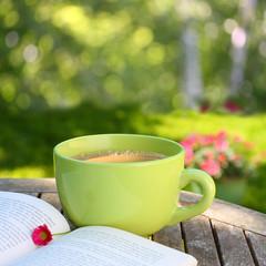 Kaffeepause im Garten