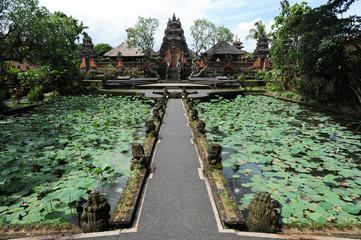 Il tempio di Dalem a Ubud sull'isola di Bali, Indonesia
