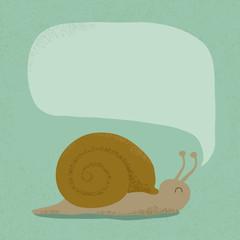 Snail bubble speech  , eps10 vector format