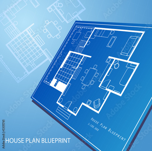 House plan blueprint text background