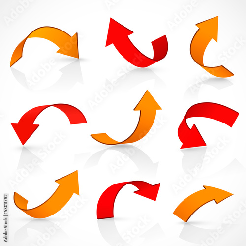Red and orange arrows