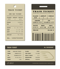 Train ticket set
