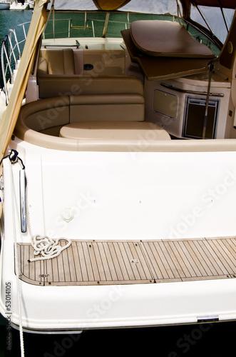 Fotobehang Water Motorsp. barca