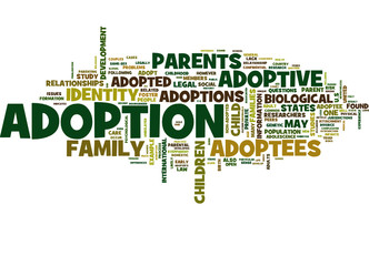 adoption (child, parents, infertility; tag cloud)