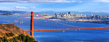 Fototapety Panoramic view of famous Golden Gate Bridge