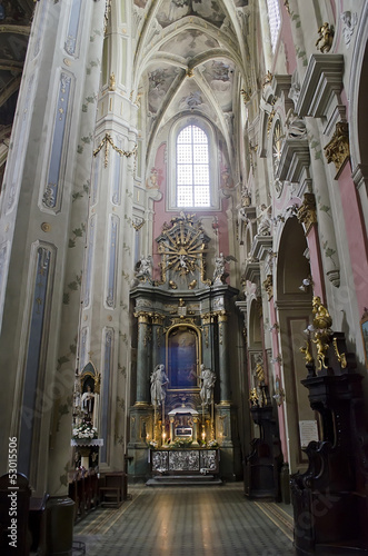 Interior Latin Cathedral in Lvov