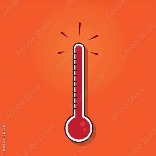 Thermometer filled to the top