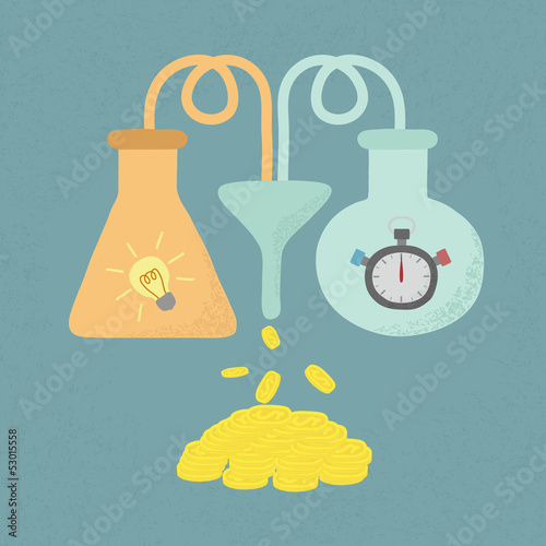 Time + Idea = Money , eps10 vector format