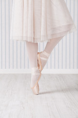 Feet of ballet dancer