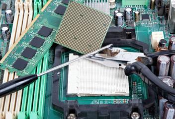 computer repair close-up