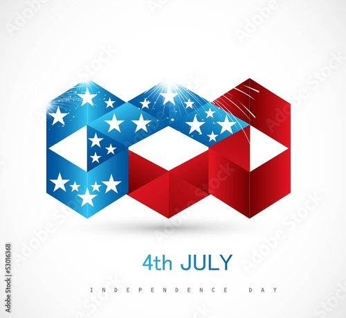 4th july american independence day icon white  background