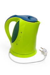 kettle electric isolated utensils appliance kitchen asian hot de