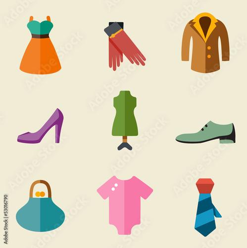 Fashion color icon set