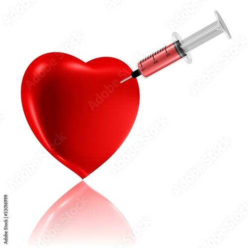 Herz mit Spritze - Blutspende - Medizin fürs Herz