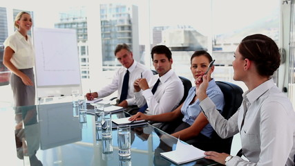 Businesswoman doing a presentation