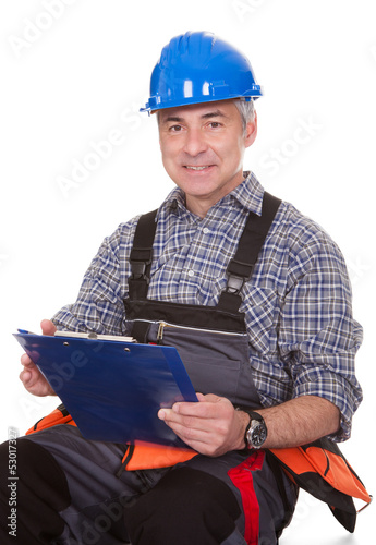 Technician Holding Laptop
