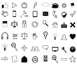 set vector of business icons for website