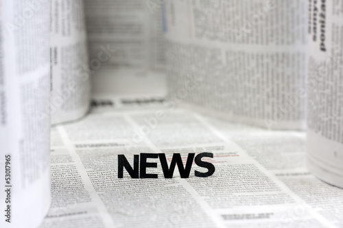 News letters on newspapers with blurred background concept © udra11