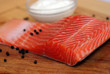 salmon fillet ready to cook
