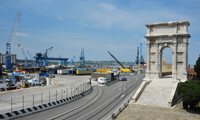 Port and arch of Traiano, Ancona