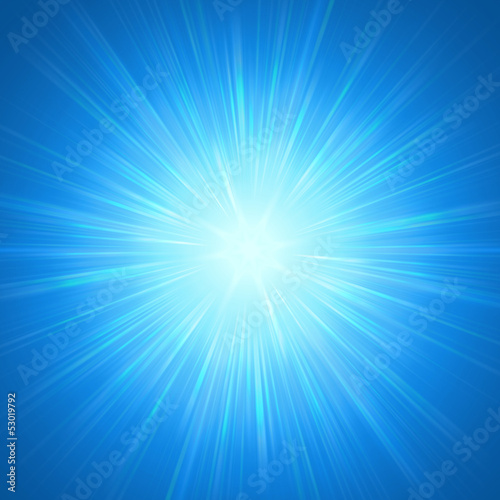 shining blue lights