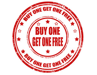 Buy one get one free-stamp