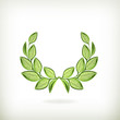 Laurel wreath, green award