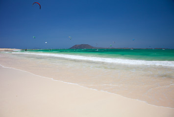Corralejo flag beach
