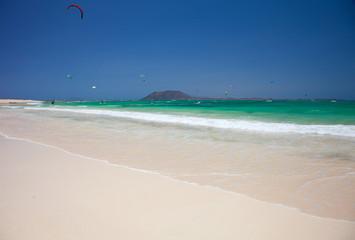 Corralejo flag beach