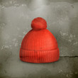 Knitted red cap, old style
