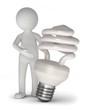 männchen energiesparlampe