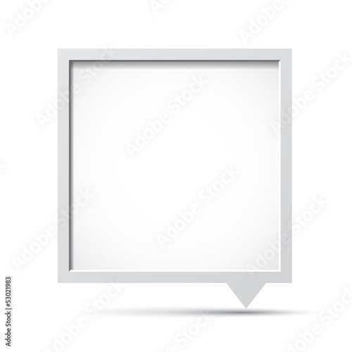 3D bubble talk frame.
