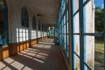 Antiguo balneario en desmantelado