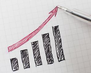 graphique flèche vers le haut croissance