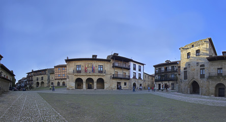 main square of Santillana del Mar.(Medieval town)
