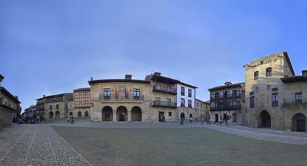 main square of Santillana del Mar.(Medieval town)
