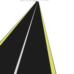 3D Black asphalt road
