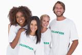 Smiling group of volunteers