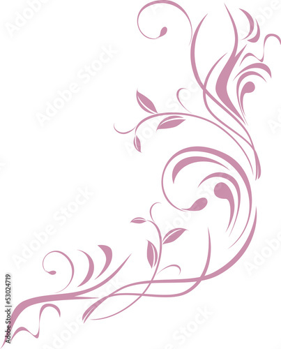 Ornamental floral element for design isolated on the white