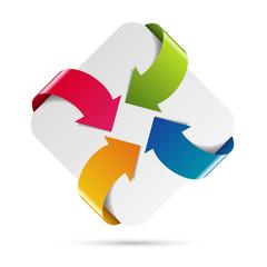 Logo flèche entreprise