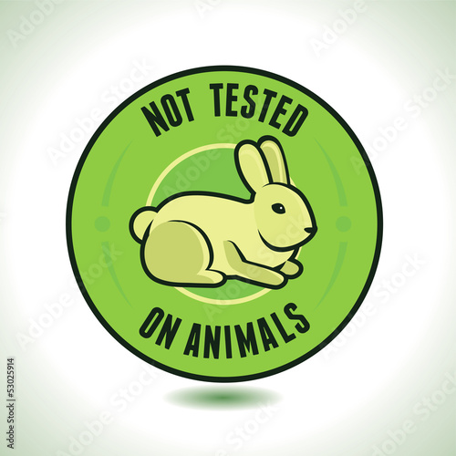 Vector not tested on animals label