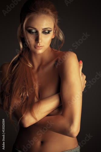Fototapeten,busen,blondhaarig,mädchen,erotisch