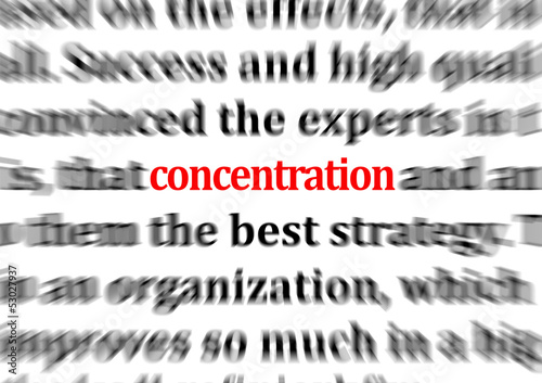 concentration (attention, meditation, adhd, vigilance, zoom)