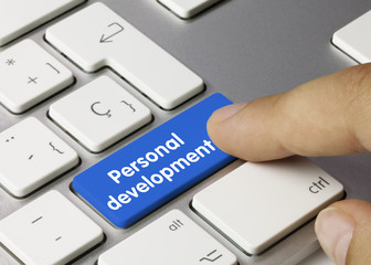 Personal development keyboard key finger