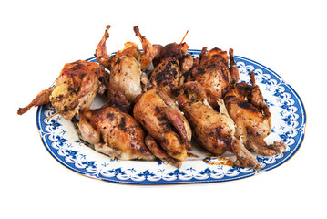 Roasted quails