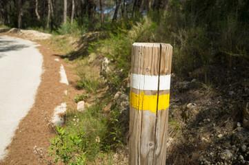 Hiking trail marking